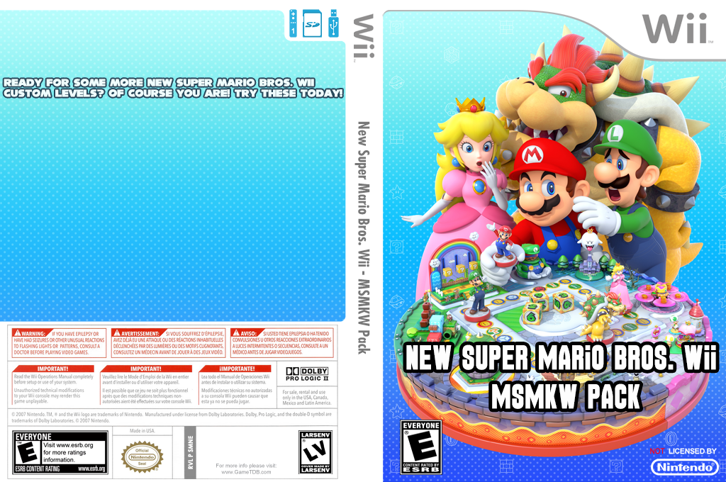New Super Mario Bros. Wii - MSMKW Pack Wii coverfullHQ (SMNE49)