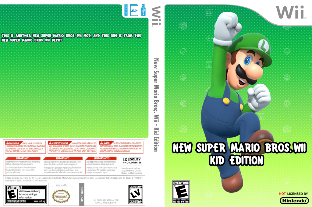 New Super Mario Bros. Wii - Kid Edition Wii coverfullHQ (SMNE53)