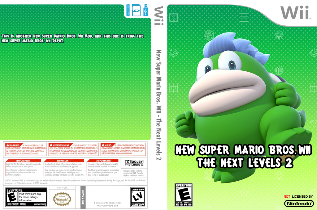 New Super Mario Bros. Wii - The Next Levels 2 Wii coverfullHQ (SMNE54)