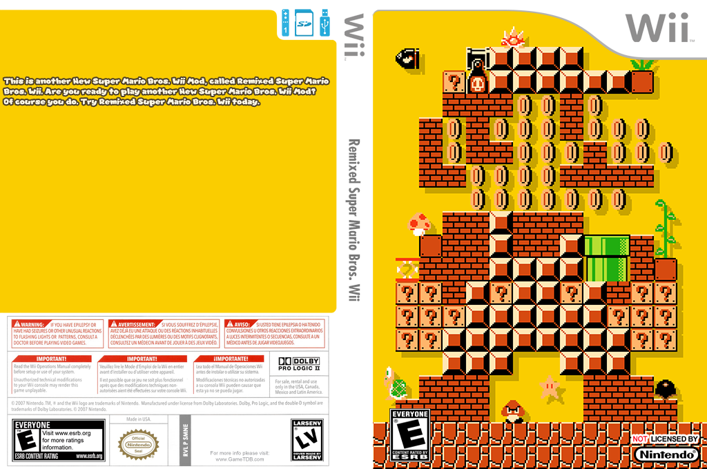 Remixed Super Mario Bros. Wii Wii coverfullHQ (SMNE60)