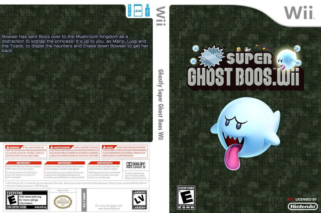 Ghostly Super Ghost Boos Wii Wii coverfullHQ (SMNE65)