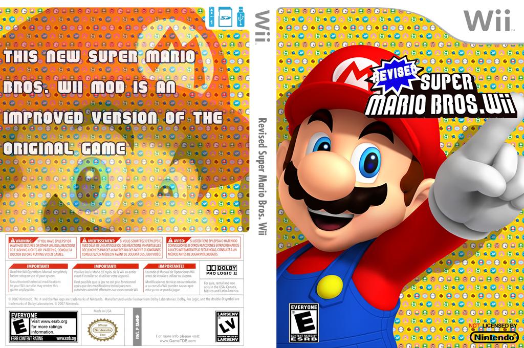 Revised Super Mario Bros. Wii Wii coverfullHQ (SMNE69)
