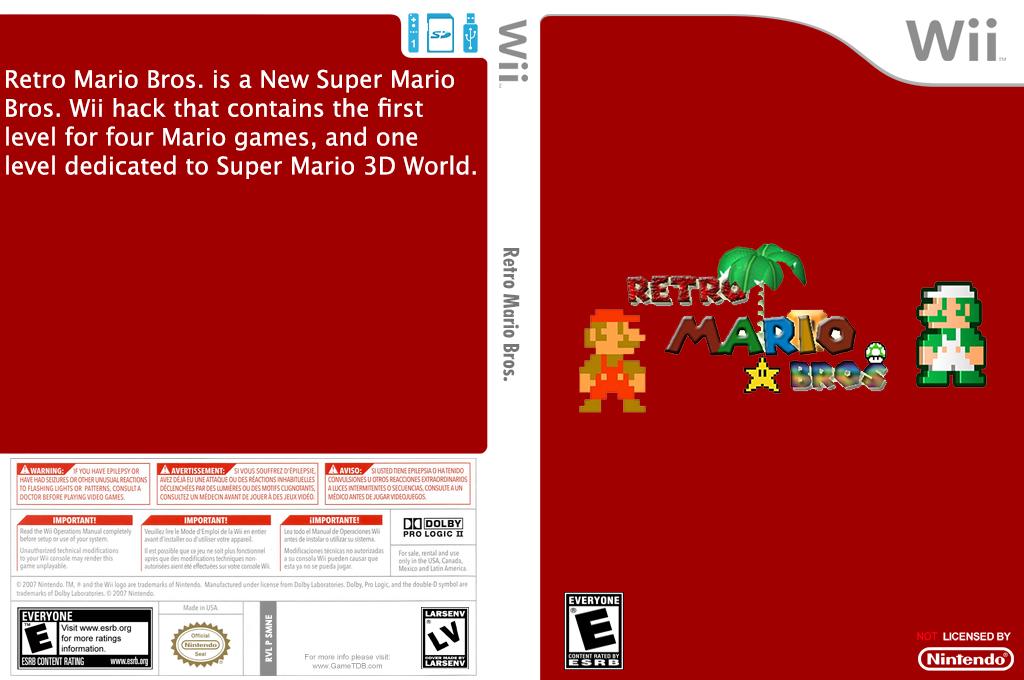 Retro Mario Bros. Wii coverfullHQ (SMNERE)