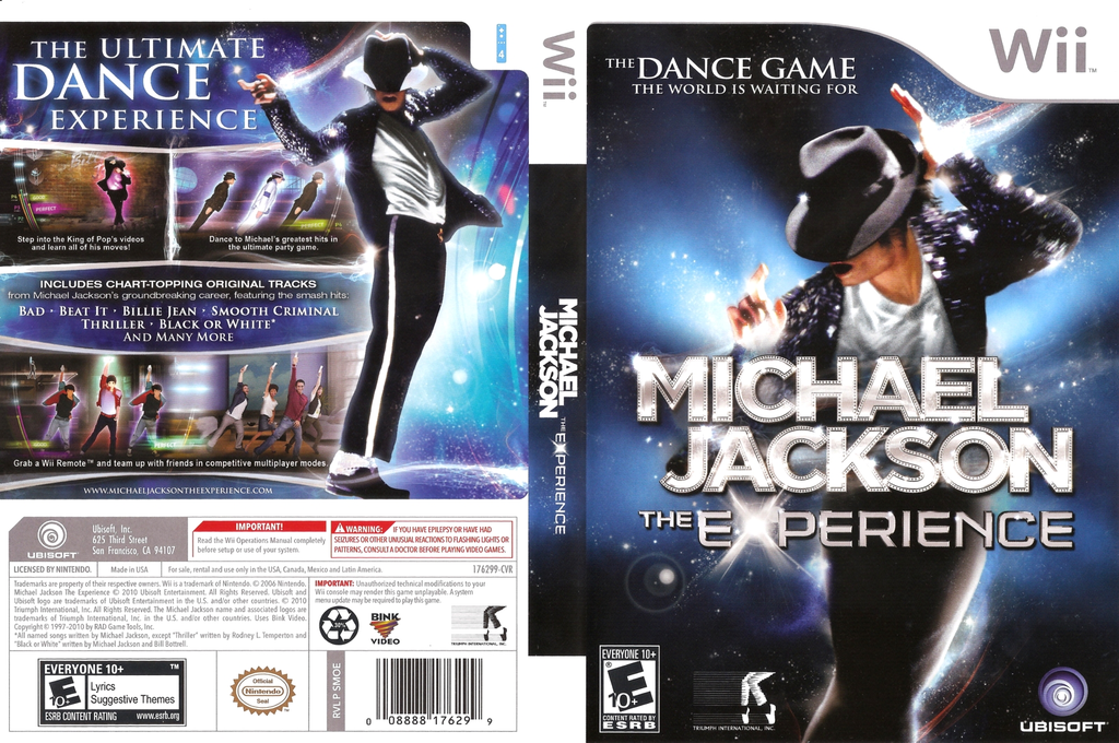 Michael Jackson: The Experience Wii coverfullHQ (SMOE41)