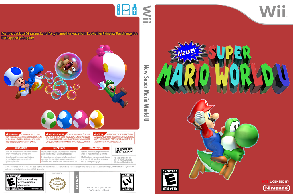 Newer Super Mario World U Wii coverfullHQ (SMWE01)