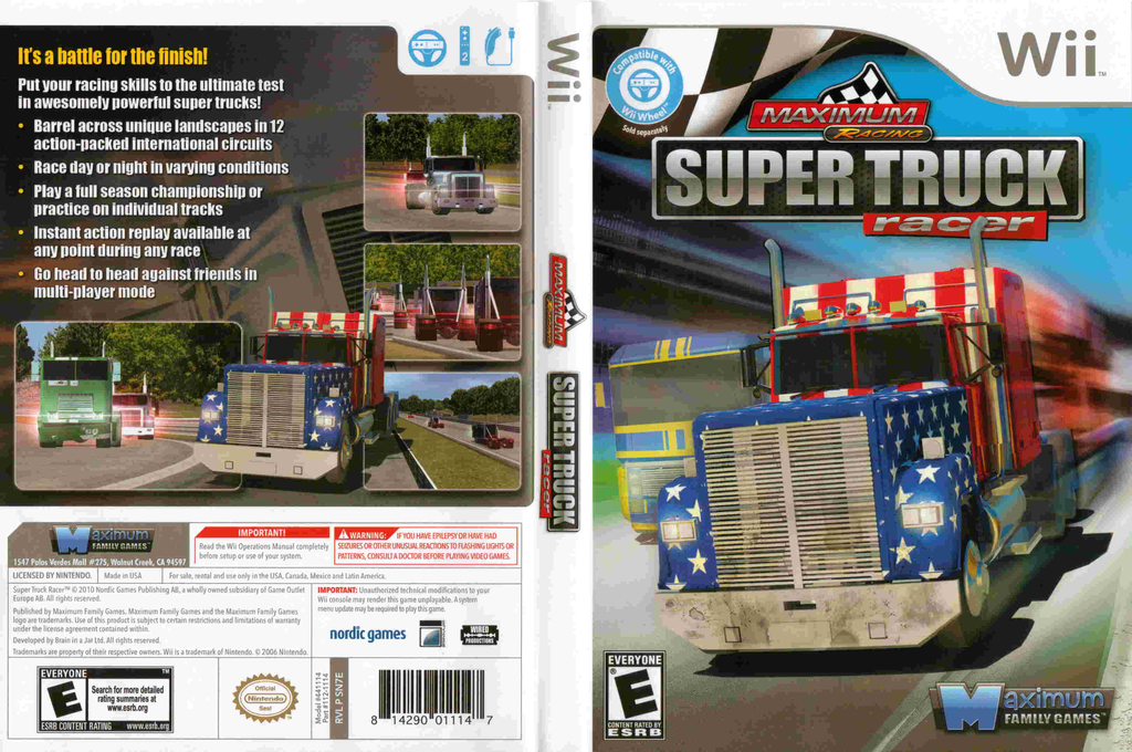 Maximum Racing: Super Truck Racer Wii coverfullHQ (SN7EYG)