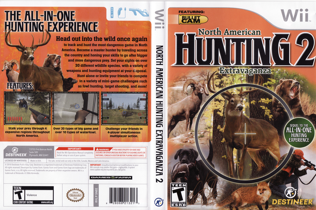 North American Hunting Extravaganza 2 Wii coverfullHQ (SNEENR)