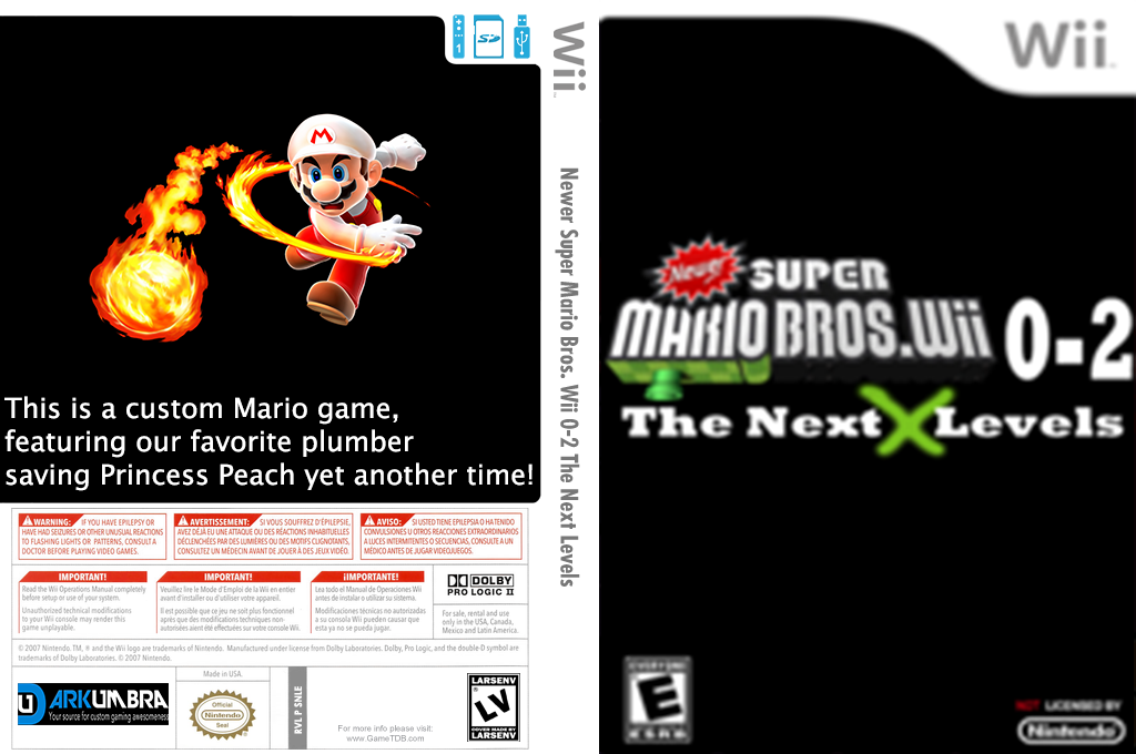 New Super Mario Bros. Wii 0-2 Next Generation Levels Wii coverfullHQ (SNLE01)