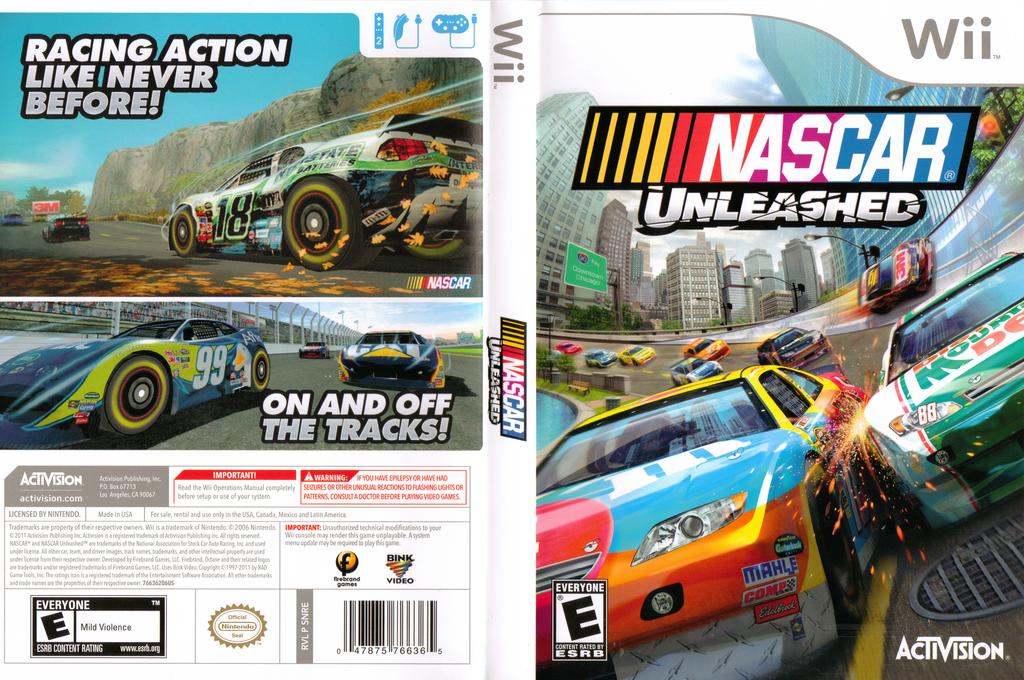 NASCAR Unleashed Wii coverfullHQ (SNRE52)