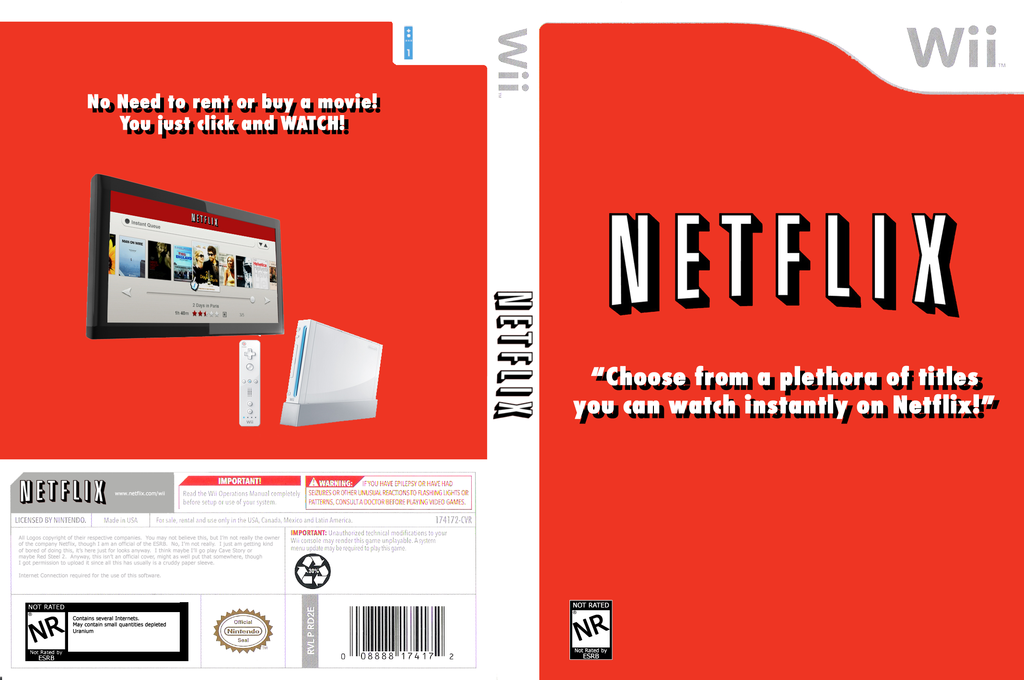 Netflix Instant Streaming Disc Wii coverfullHQ (SNTEXN)