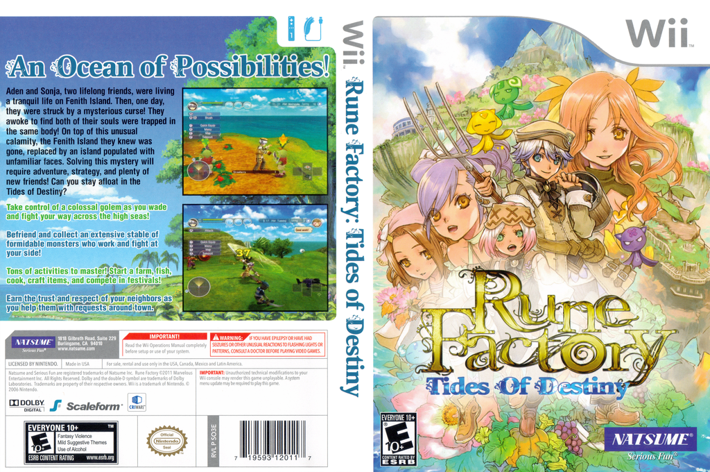 Rune Factory: Tides of Destiny Wii coverfullHQ (SO3EE9)