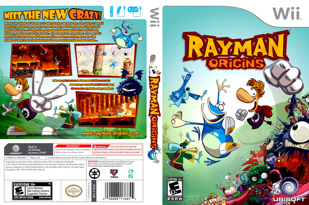Rayman Origins Wii coverfullHQ (SOJE41)