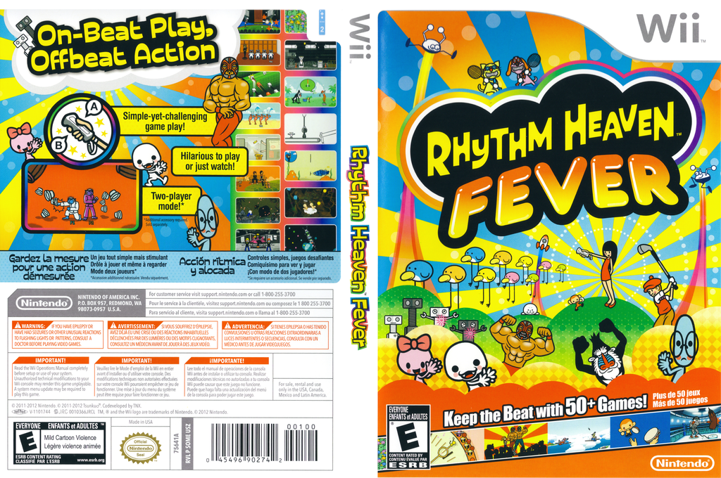 Rhythm Heaven Fever Wii coverfullHQ (SOME01)