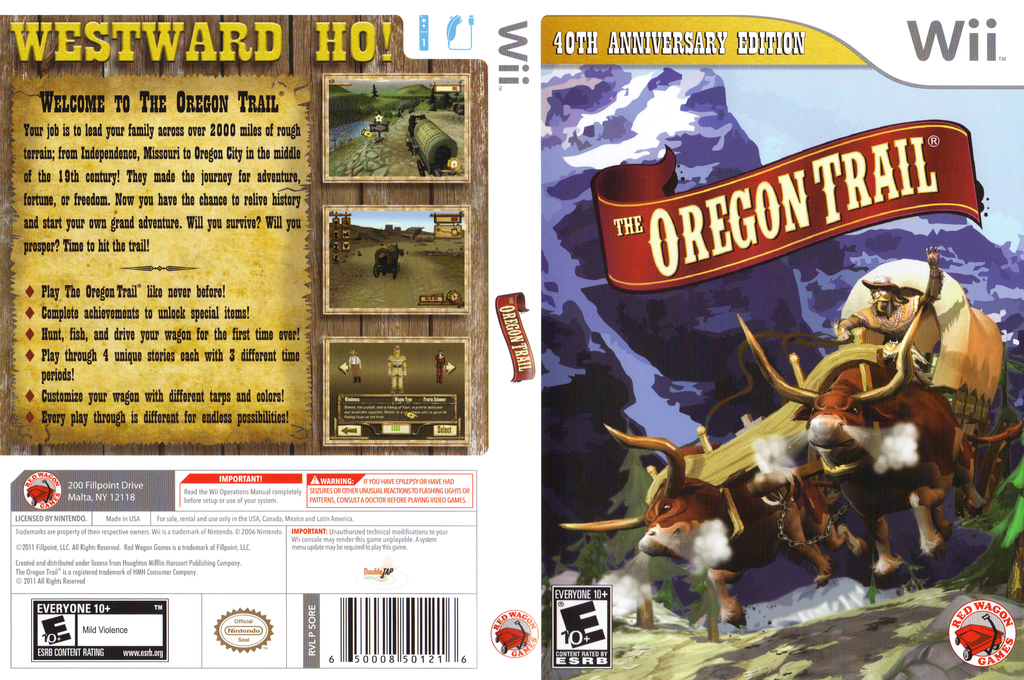 The Oregon Trail Wii coverfullHQ (SORE4Z)