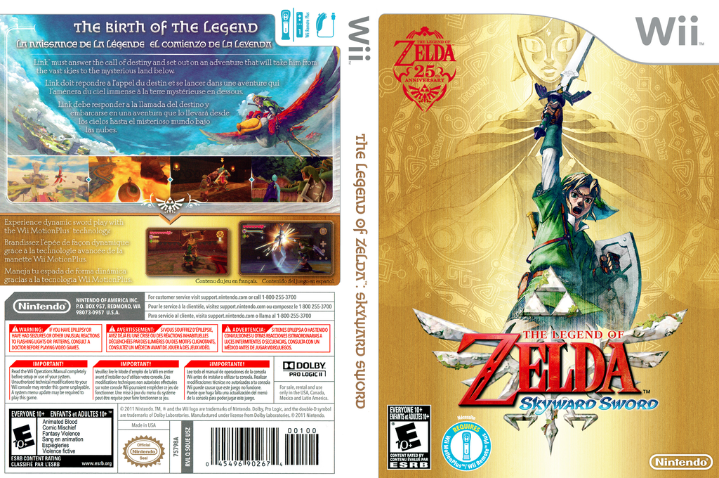 The Legend of Zelda: Skyward Sword Wii coverfullHQ (SOUE01)