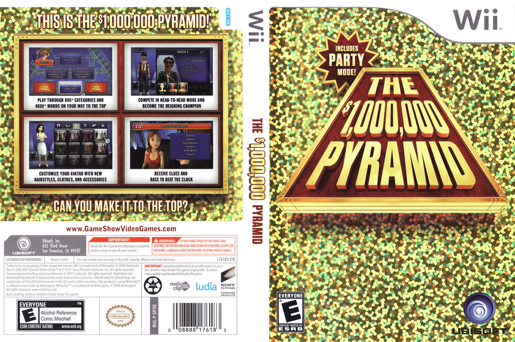 The $1,000,000 Pyramid Wii coverfullHQ (SP3E41)