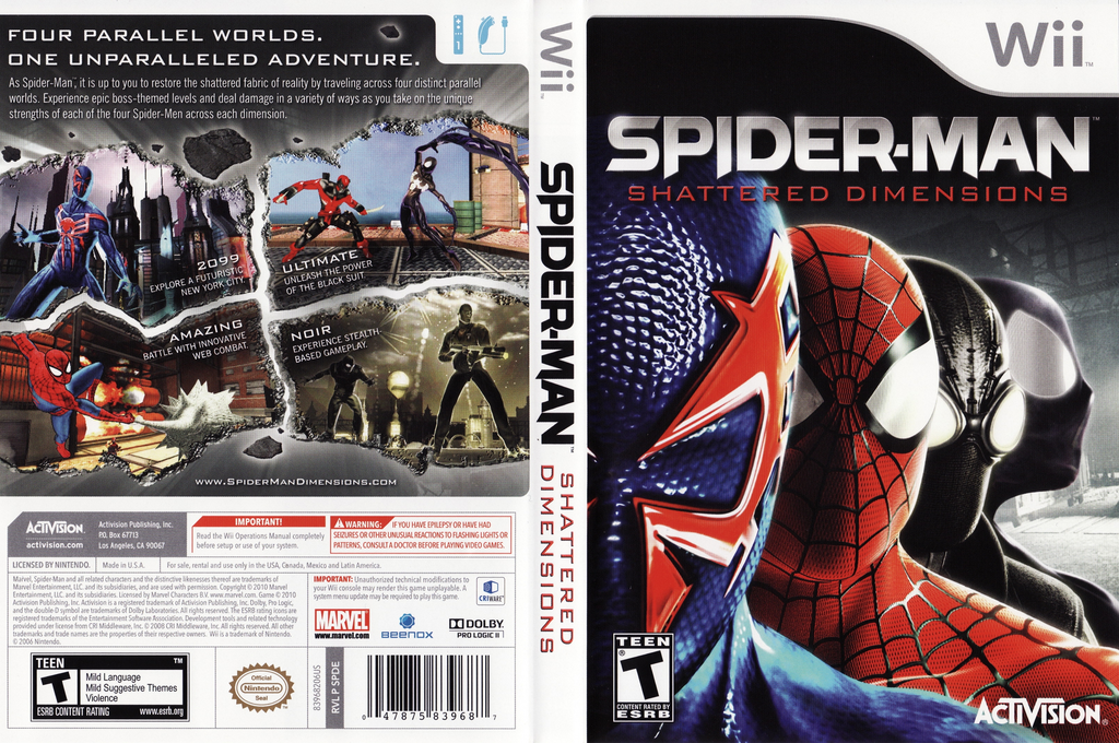 Spider-Man: Shattered Dimensions Wii coverfullHQ (SPDE52)