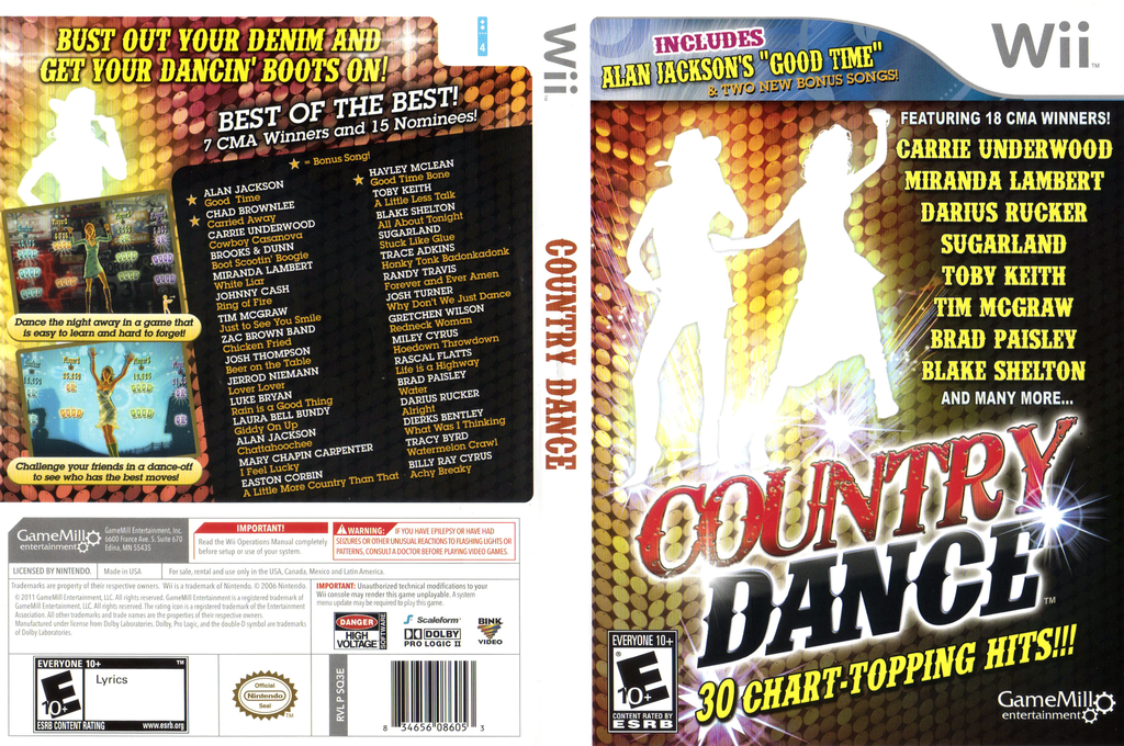 Country Dance Wii coverfullHQ (SQ3EPZ)