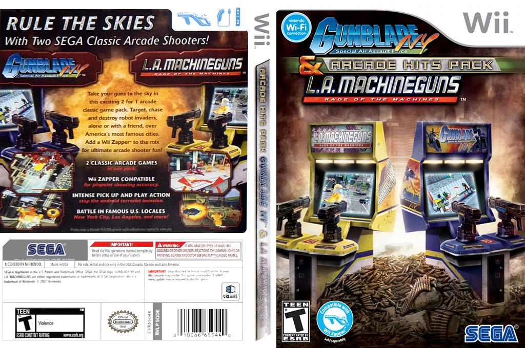 Gunblade NY & LA Machineguns:Arcade Hits Pack Wii coverfullHQ (SQDE8P)