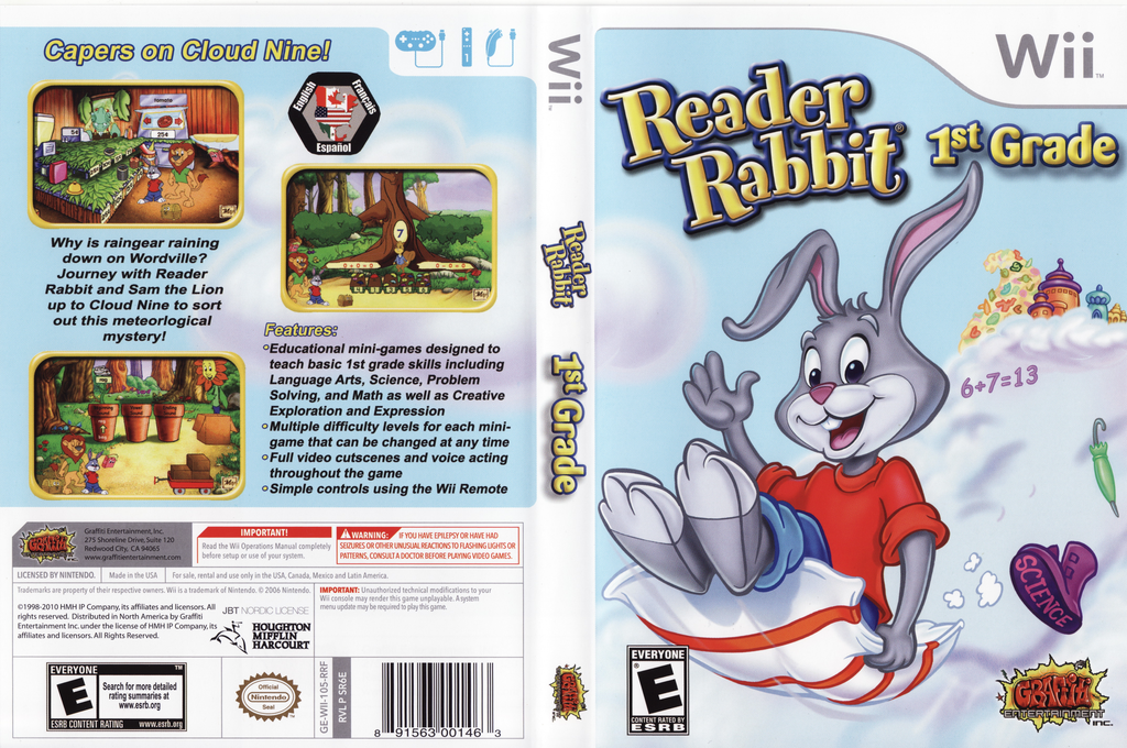 Reader Rabbit 1st Grade Wii coverfullHQ (SR6EHG)