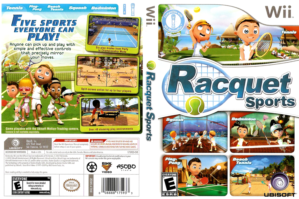 Racquet Sports Wii coverfullHQ (SRQE41)