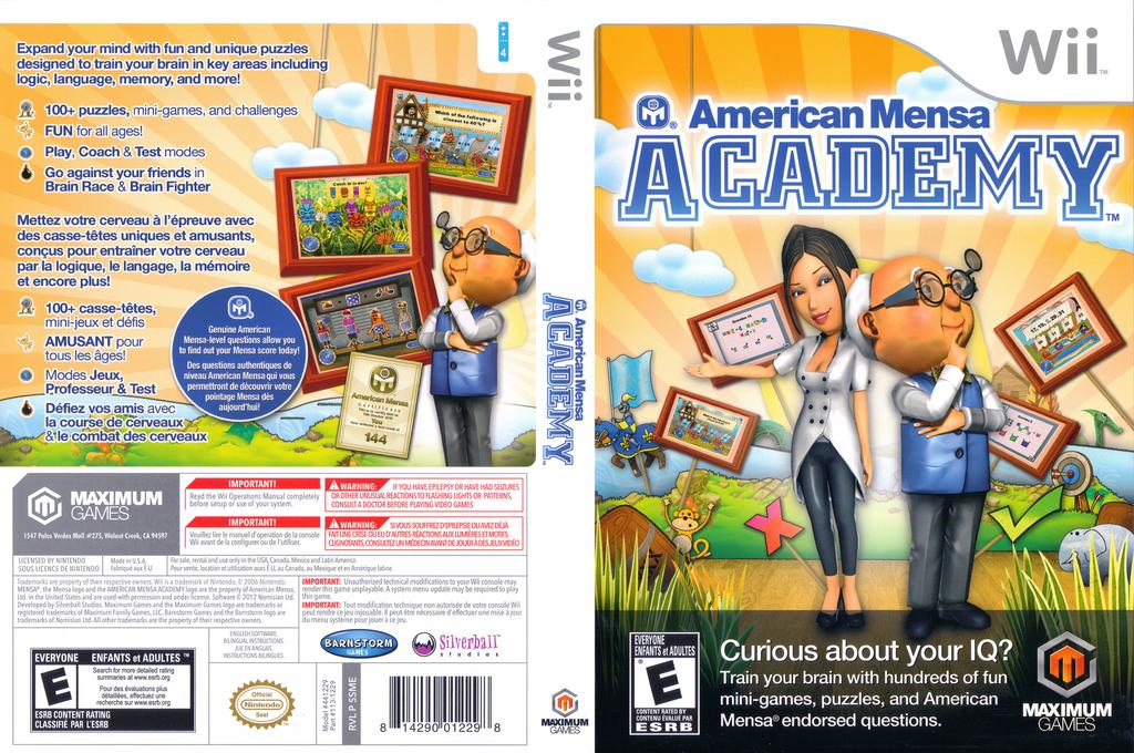 American Mensa Academy Wii coverfullHQ (SSMEYG)