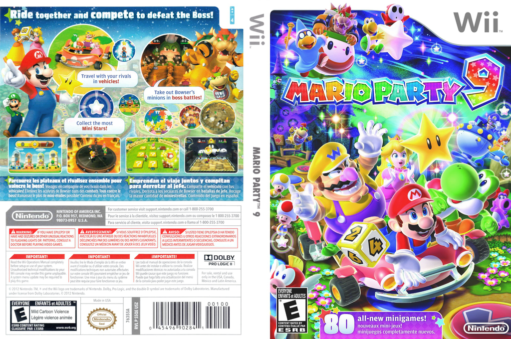 Mario Party 9 Wii coverfullHQ (SSQE01)