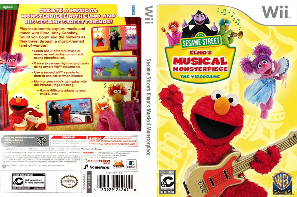 Sesame Street: Elmo's Musical Monsterpiece Wii coverfullHQ (SSSEWR)