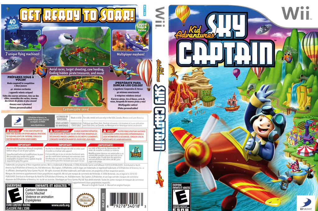 Kid Adventures: Sky Captain Wii coverfullHQ (SSTEG9)