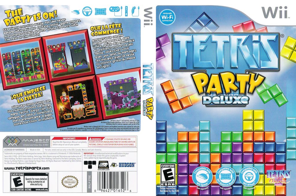 Tetris Party Deluxe Array coverfullHQ (STEETR)