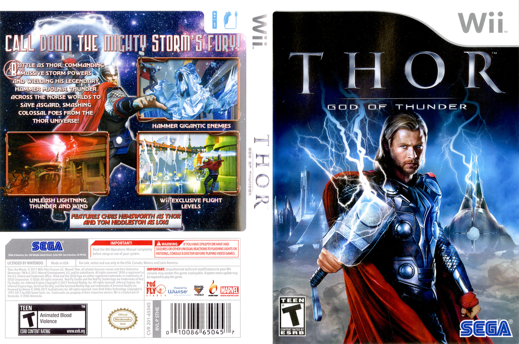 THOR: God of Thunder Wii coverfullHQ (STHE8P)