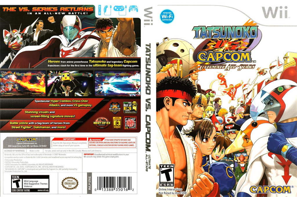 Tatsunoko vs. Capcom: Ultimate All-Stars Wii coverfullHQ (STKE08)