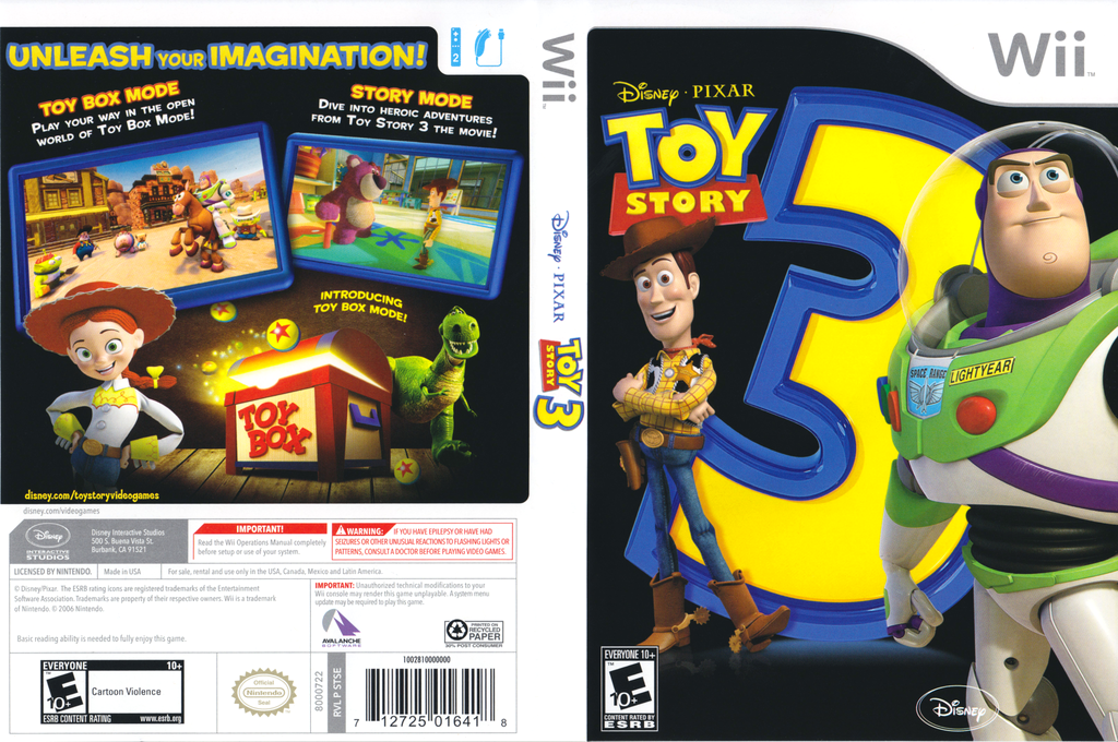 Toy Story 3 Wii coverfullHQ (STSE4Q)