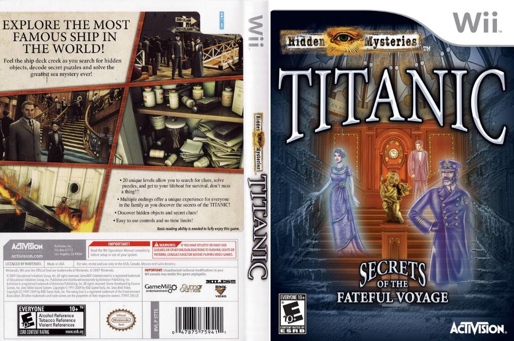 Hidden Mysteries: Titanic Wii coverfullHQ (STTE52)