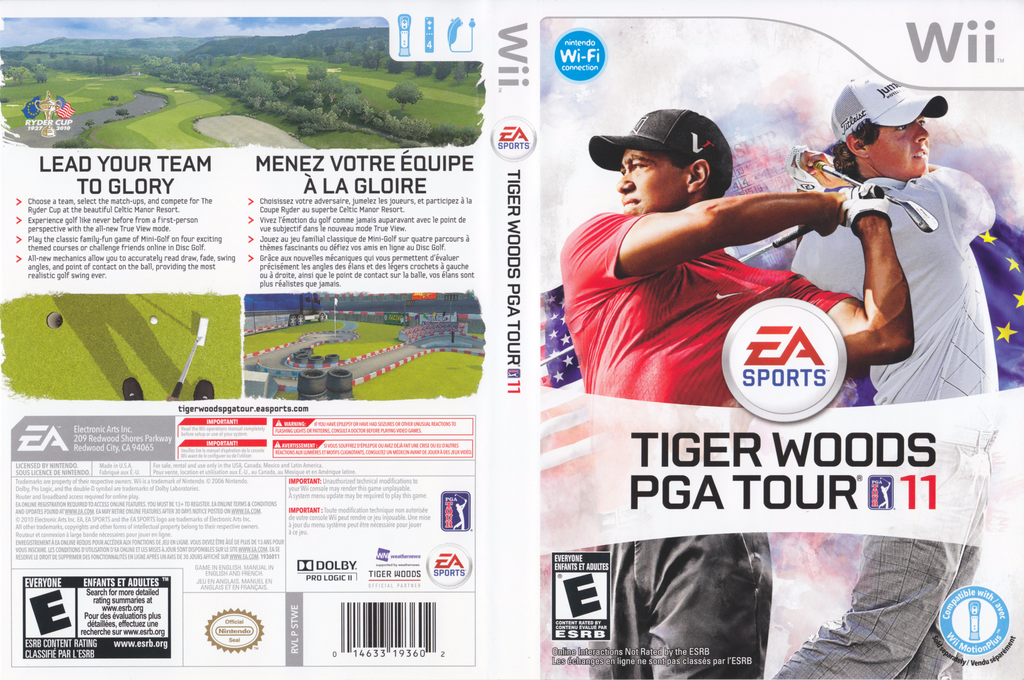 Tiger Woods PGA Tour 11 Wii coverfullHQ (STWE69)