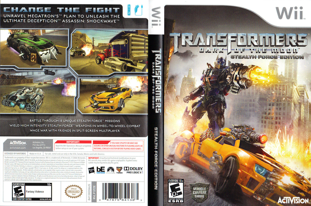 Transformers: Dark of the Moon - Stealth Force Edition Wii coverfullHQ (STZE52)