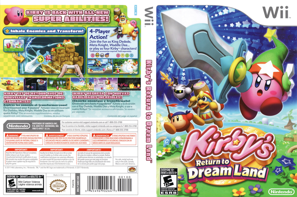 Kirby's Return to Dream Land Wii coverfullHQ (SUKE01)