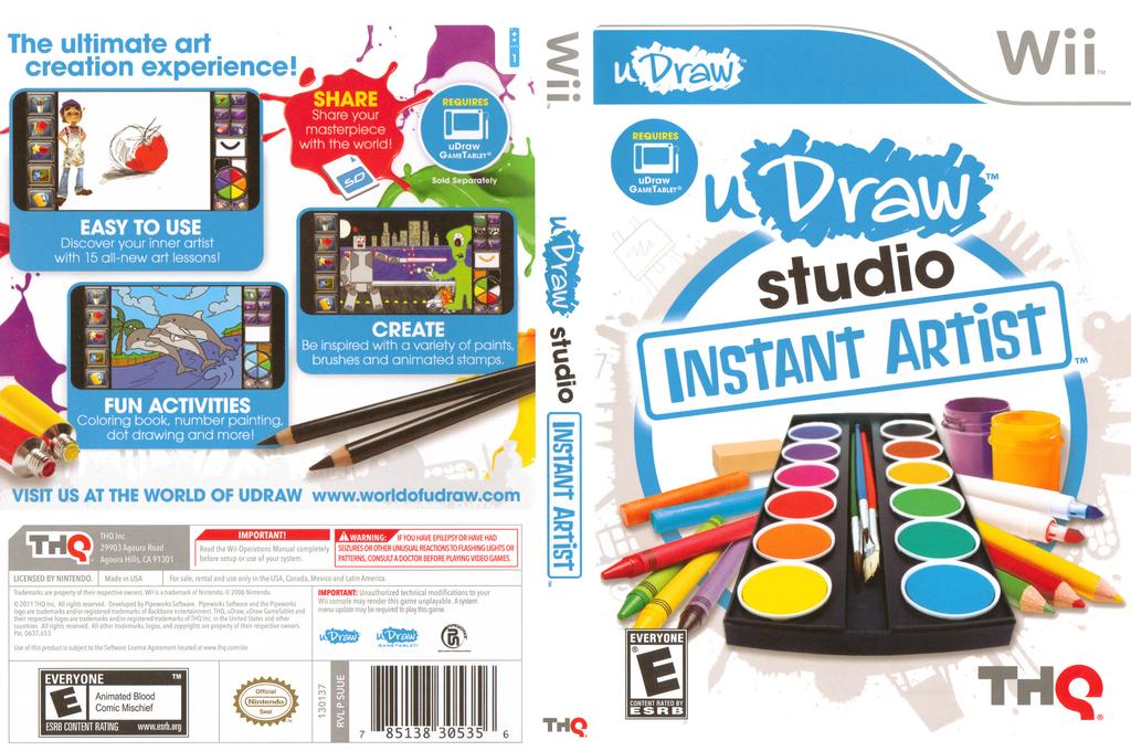 uDraw Studio: Instant Artist Wii coverfullHQ (SUUE78)