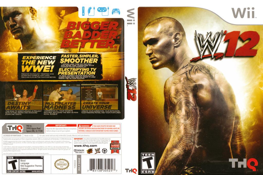 WWE '12 Wii coverfullHQ (SW6E78)