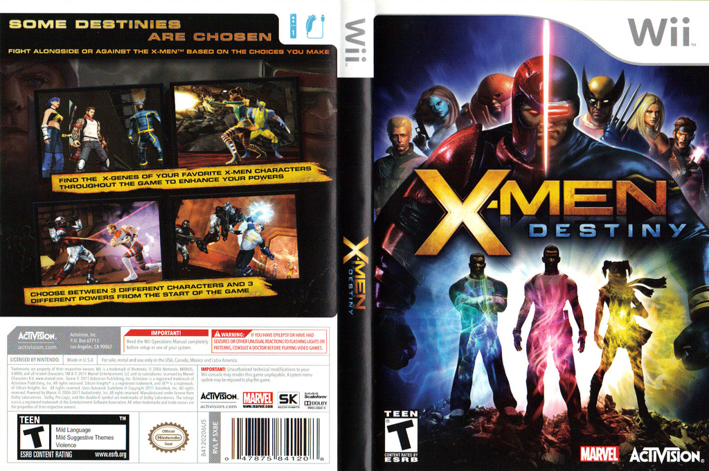 X-Men Destiny Wii coverfullHQ (SX8E52)