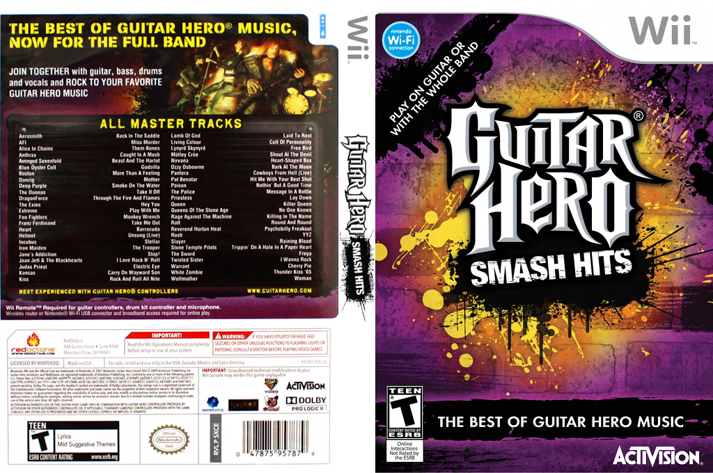 Guitar Hero: Smash Hits Wii coverfullHQ (SXCE52)