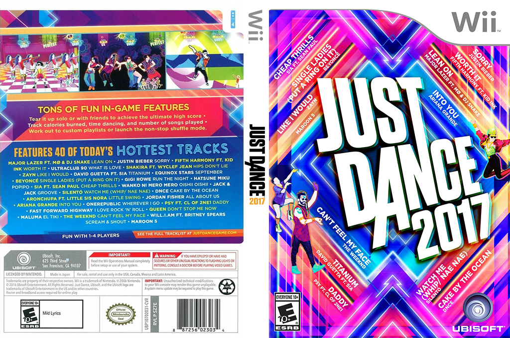Just Dance 2017 Wii coverfullHQ (SZ7E41)