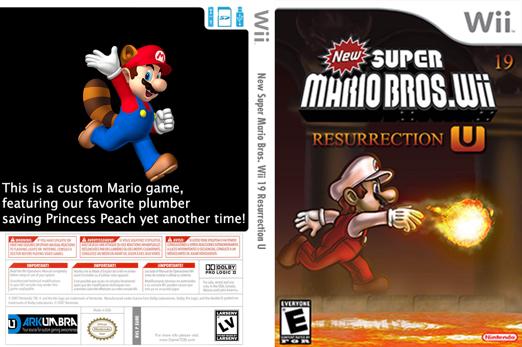 New Super Mario Bros. Wii 19 Resurrection U Wii coverfullHQ (UUUE01)