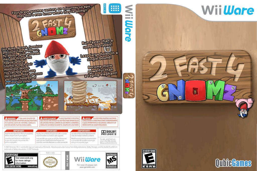 2 Fast 4 Gnomz Wii coverfullHQ (W24E)
