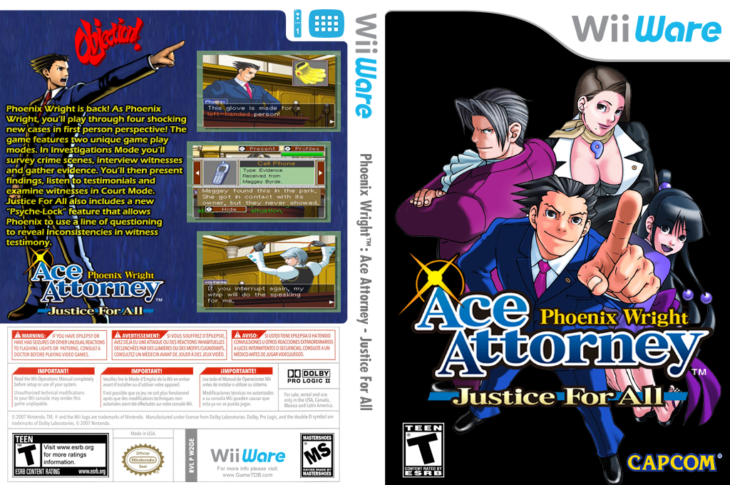 Phoenix Wright: Ace Attorney Justice for All Wii coverfullHQ (W2GE)