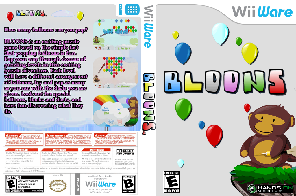 Bloons Wii coverfullHQ (W2LE)