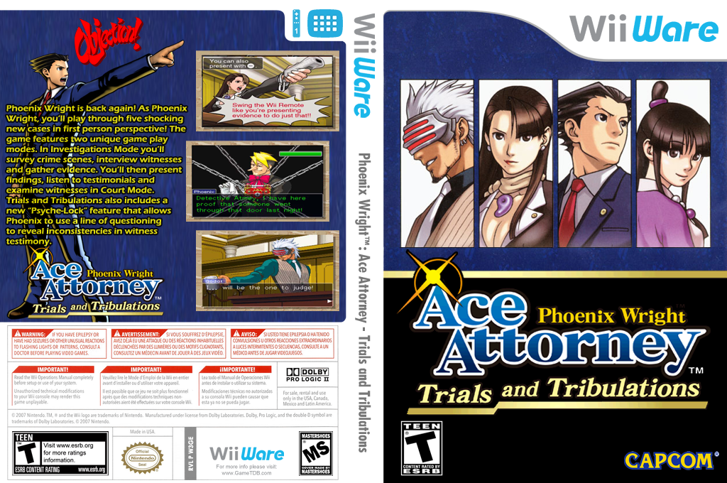 Phoenix Wright Ace Attorney: Trials and Tribulations Wii coverfullHQ (W3GE)