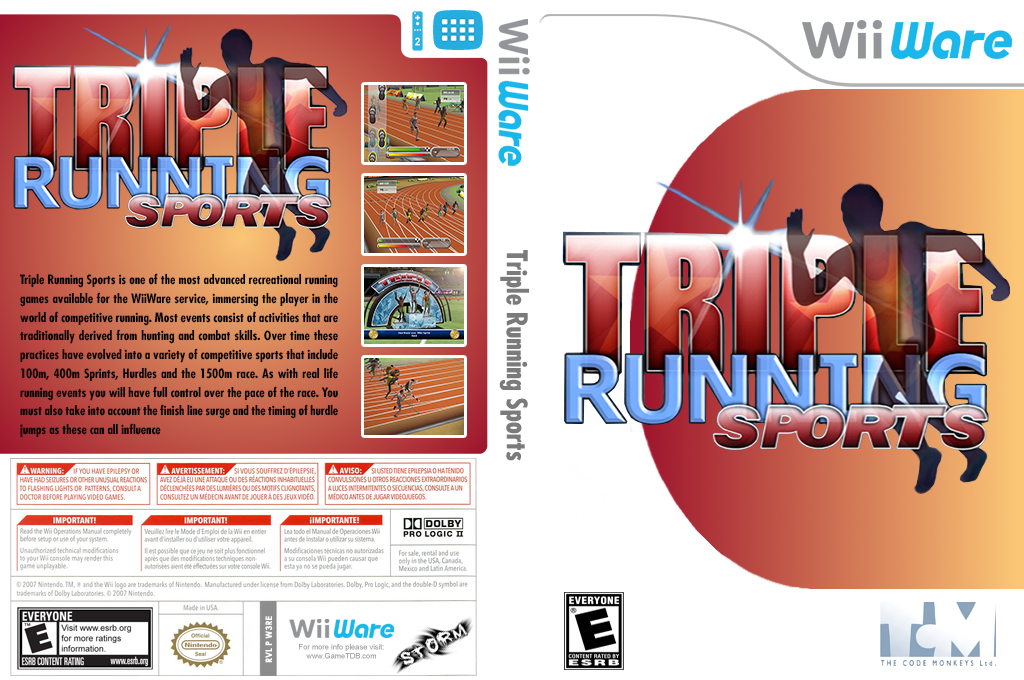Triple Running Sports Wii coverfullHQ (W3RE)
