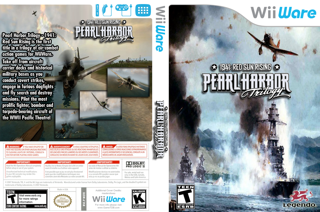 Pearl Harbor Trilogy - 1941: Red Sun Rising Wii coverfullHQ (W3TE)