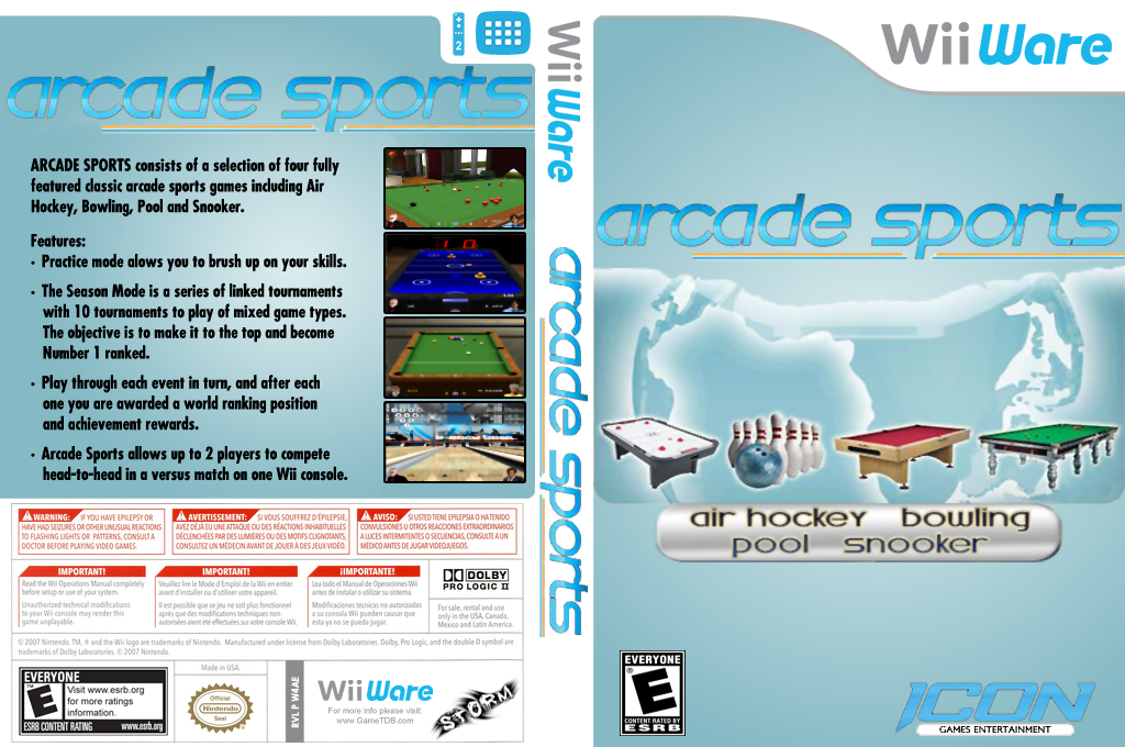 Arcade Sports Wii coverfullHQ (W4AE)